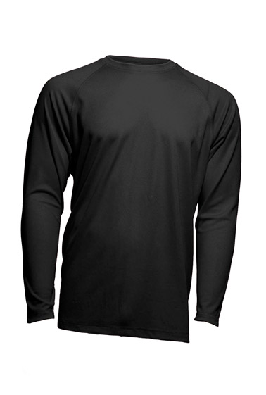 Sport T-Shirt Man LS Black