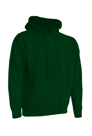 Hooded Sweatshirt Unisex Bottle Green