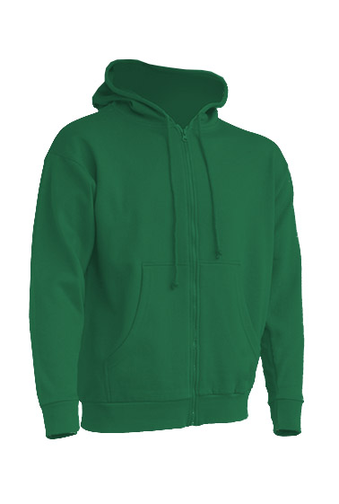 Hooded Sweatshirt Unisex Kelly Green