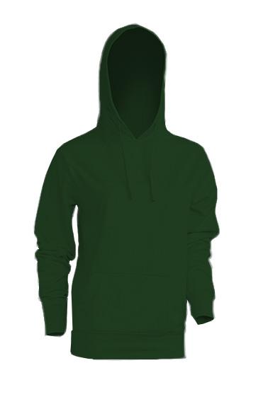 Kangaroo Sweatshirt Lady Bottle Green