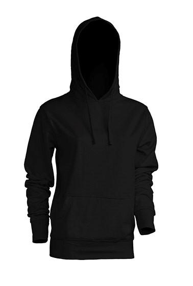 Kangaroo Sweatshirt Lady Black