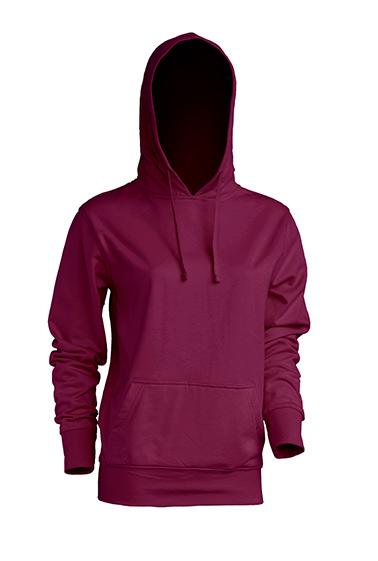 Kangaroo Sweatshirt Lady Burgundy