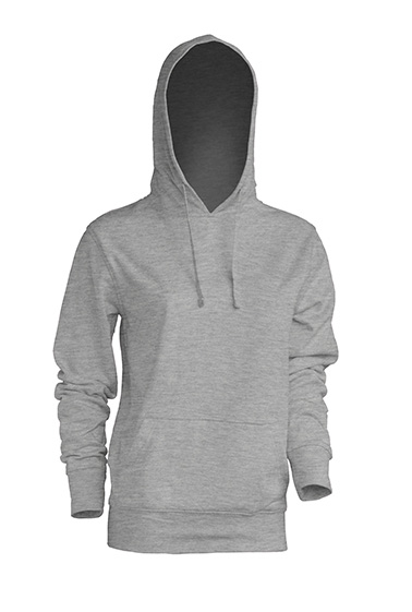 Kangaroo Sweatshirt Lady Grey Melange