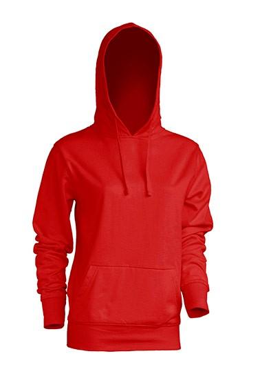 Kangaroo Sweatshirt Lady Red