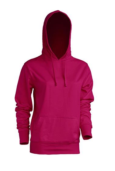 Kangaroo Sweatshirt Lady Raspberry