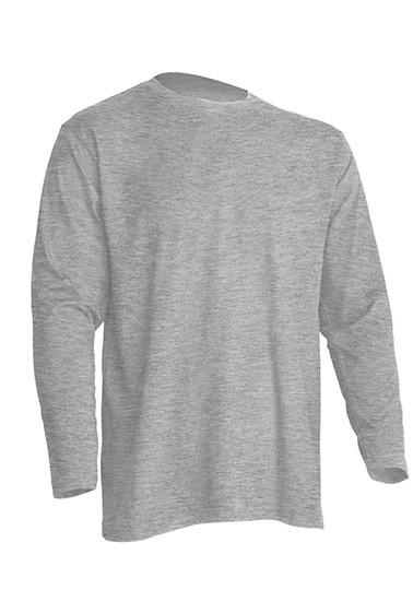 Regular T-Shirt LS Grey Melange